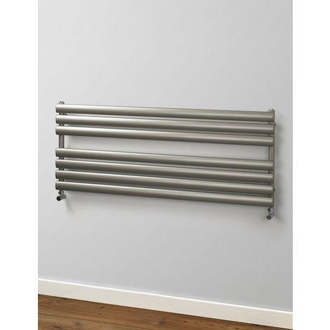 Rads 2 Rails Finsbury Anthracite Wide Steel Towel Rail 600mm x 1400mm Dual Fuel - Thermostatic