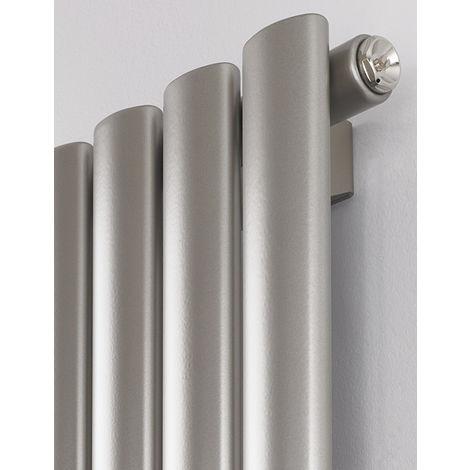 Rads 2 Rails Finsbury White Steel Single Panel Vertical Radiator 1800mm x 300mm