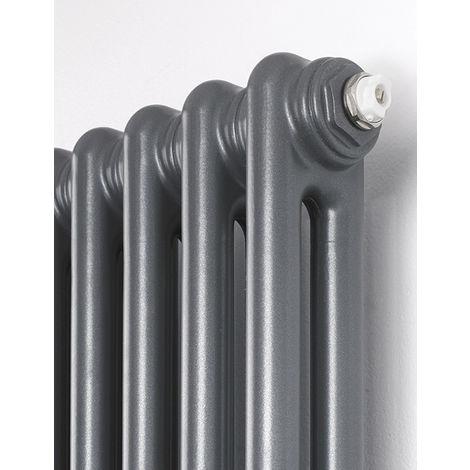 Rads 2 Rails Fitzrovia Anthracite Steel 3 Column Vertical Radiator 1800mm x 300mm