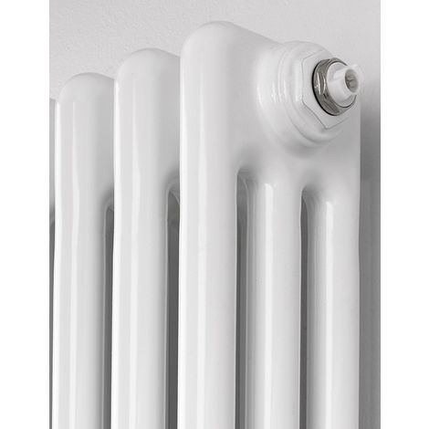 Rads 2 Rails Fitzrovia White steel 2 Column Vertical Radiator 1800mm x 300mm