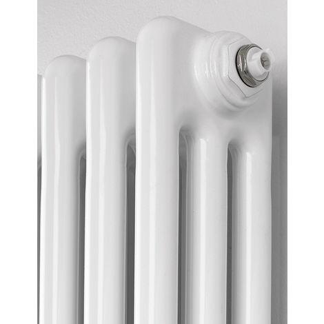 Rads 2 Rails Fitzrovia White steel 3 Column Vertical Radiator 1800mm x 300mm
