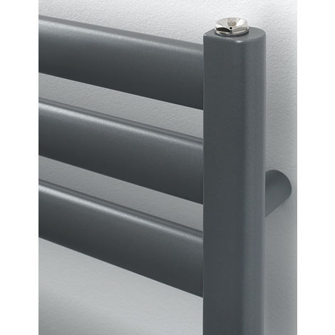 Rads 2 Rails Fulham Anthracite Steel Oval Tube Towel Rail 830mm x 500mm Electric Only - Thermostatic