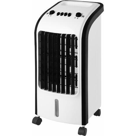 Rafraîchisseurs d'air portable et humidificateur. Système d'oscillation. 3 vitesses. Réservoir d'eau amovible 5L. 2 conteneurs de glace. Débit d'air 270m3/h. [Classe énergétique A] FRESHI