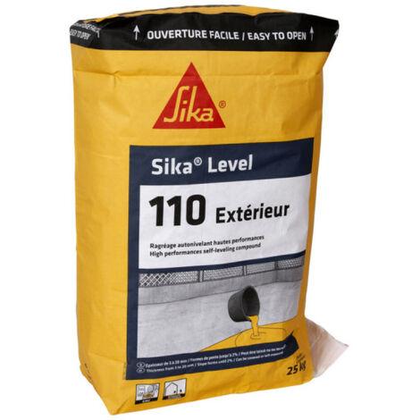 Ragréage de sol hautes performances SIKA Level-110 Intérieur et extérieur - Auto-nivelant - 25 Kg