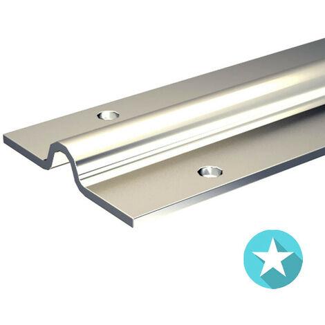 Rail à visser pour galet à gorge ronde Ø12 mm - portail coulissant 400 kg max