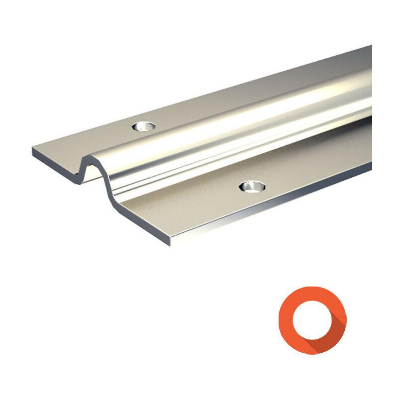 galet rail porte coulissante Rail à visser pour galet à gorge ronde Ø16 mm - portail coulissant 400 kg  max - SU5058
