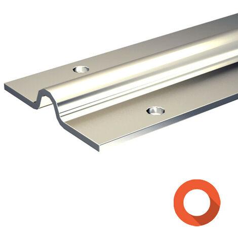 Rail à visser pour galet à gorge ronde Ø16 mm - portail coulissant 400 kg max