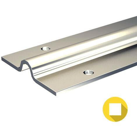 Rail à visser pour galet à gorge ronde Ø16 mm - portail coulissant 800 kg max
