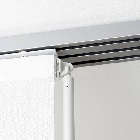 Rail Aluminium Gris pour Panneau Japonais 45 cm Gris