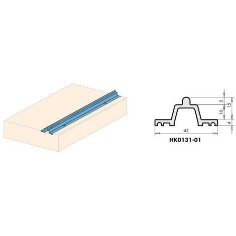 Rail bas roulement sur appui bois HS150 Portal alu anodisé HK0131-01 SIEGENIA L.6700mm - 129647