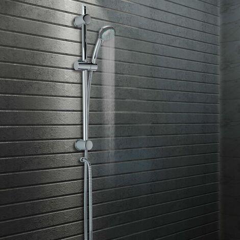 Rail de ducha con soporte para alcachofa de ducha 76 cm