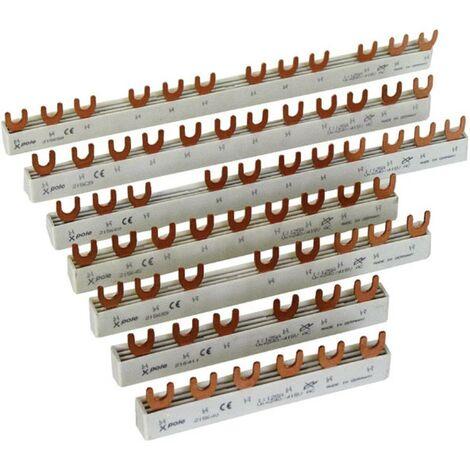 Rail de phase Eaton EVG-1PHAS/12MODUL 215637 1 pôle 10 mm² 63 A 500 V 1 pc(s)