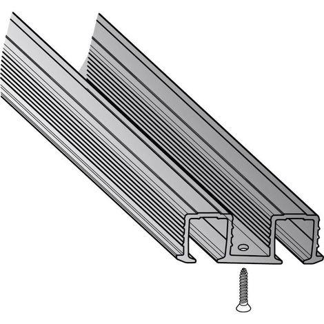 Rail de roulement sysline encastrable double - Profondeur : 11,5 mm - Largeur : 38,3 mm - Longueur : 2000 mm - HETTICH - Vendu à l'unité
