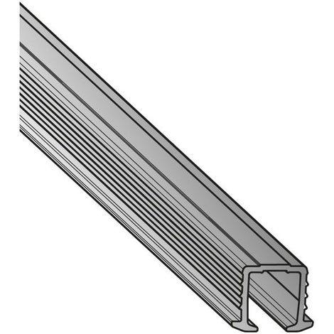 Rail de roulement sysline encastrable simple - Longueur : 2000 mm - Matériau : Aluminium - HETTICH