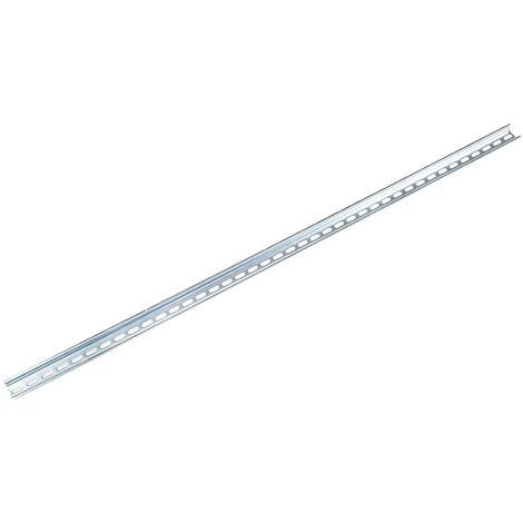 Rail DIN, 1m x 35mm x 15mm Fendu, Rail oméga profond en Acier