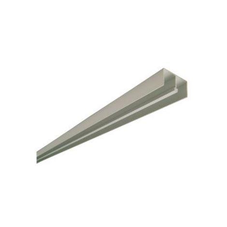 Rail du haut 1150 argent VACHETTE pour vitrine coulissante - 5 mètres - 343011