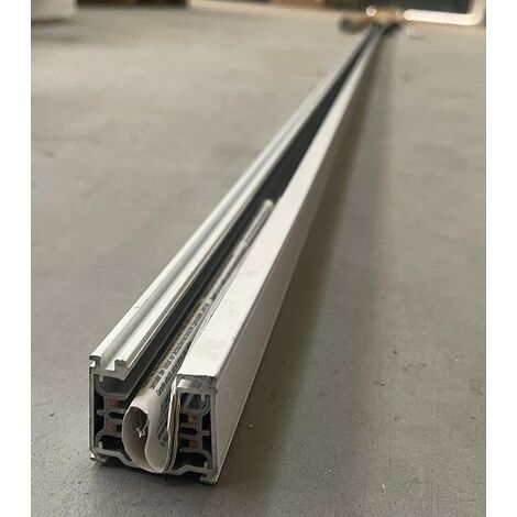 Rail monophasé gris double allumage 230V longueur 4000mm largueur 38X31mm pour luminaire IGUZZINI 3.6774.001.0
