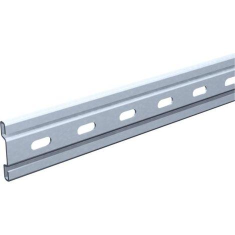 Rail profilé droit longueur 2000 mm pour ferrures porte coulissante sur fer plat - série Bob type 1716