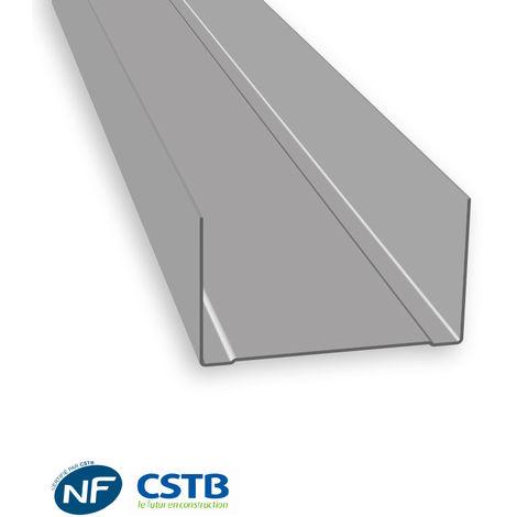 Rail R48 pour plaque de plâtre 48mm x 3000mm