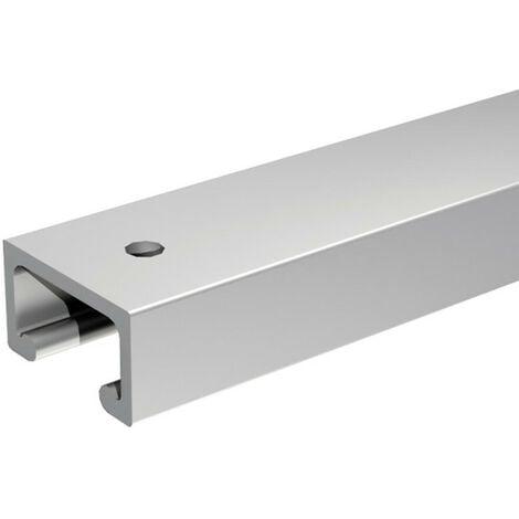 Rail SLID'UP 1900 en aluminium pour portes de placard - 1,5 m