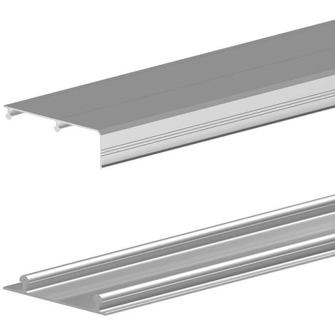 Rails haut et bas en aluminium pour SLID'UP 210-220-230 - 1,80 m - argent