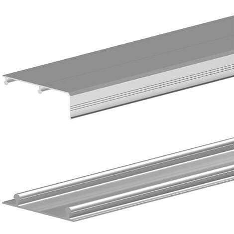 Rails haut et bas en aluminium pour SLID'UP 210-220-230 - 1,80 m - argent - Argent