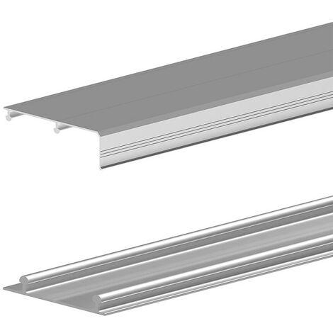 Rails haut et bas en aluminium pour SLID'UP 210-220-230 - 2,70 m - argent