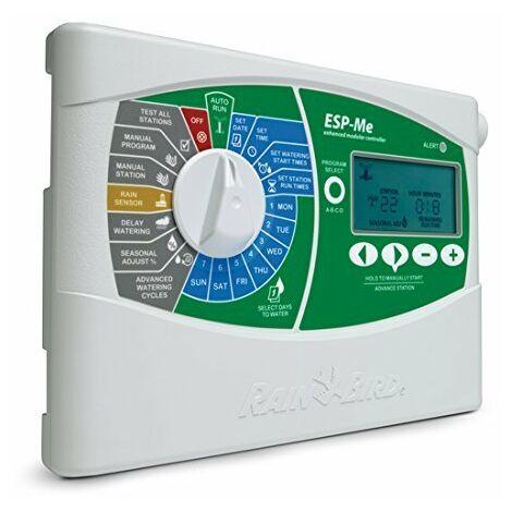 Rain bird - IESP4MEEUR - d\'irrigation ordinateur, appareil de commande Type ESP de me Module de base/Contrôleur 4stations, gris, 11x 27,5x 19,5cm