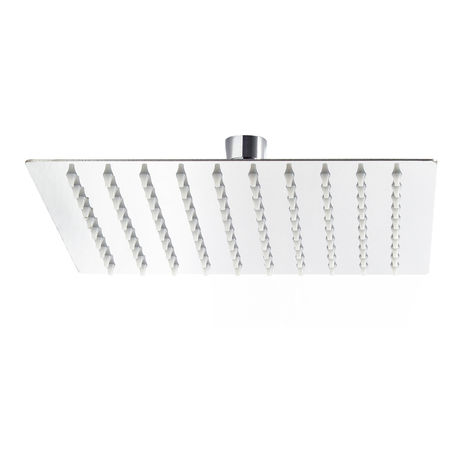 Rain Overhead Shower Head Square Stainless Steel 25x25cm