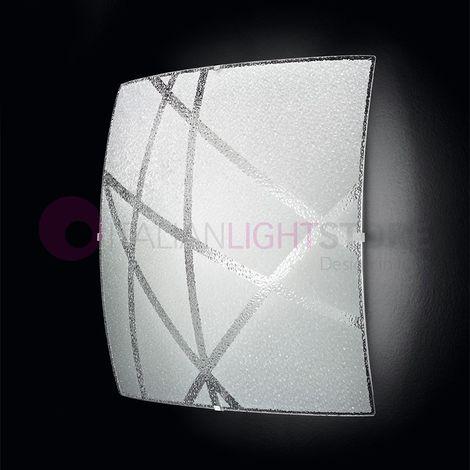 RAIN Plafoniera Lampada a Soffitto a LED in Vetro 50x50 - 14409>PZ-6568BLN