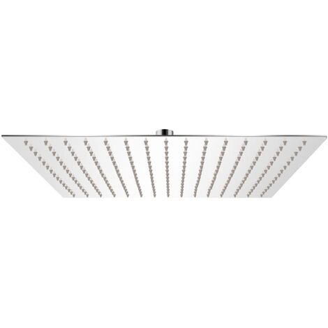 Rain Shower Head Stainless Steel 40x40 cm Square
