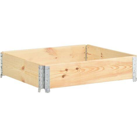Raised Bed 100x100 cm Solid Pine Wood (310056 ) - Brown