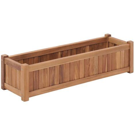 Raised Bed 100x30x25 cm Solid Teak Wood