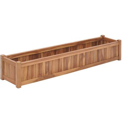 Raised Bed 150x30x25 cm Solid Teak Wood