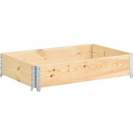 Raised Bed 50x100 cm Solid Pine Wood (310052 ) - Brown