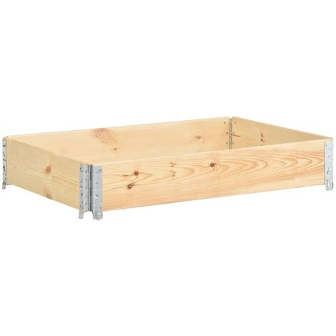 Raised Bed 80x120 cm Solid Pine Wood (310050) - Brown