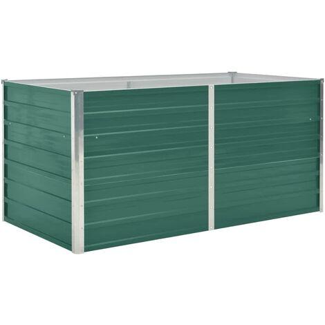 Raised Garden Bed 160x80x77 cm Galvanised Steel Green