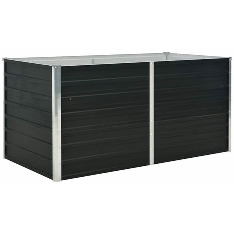 Raised Garden Bed Anthracite 160x80x77 cm Galvanised Steel
