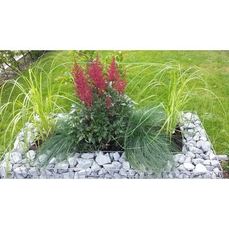 Raised garden , mesh size 5 cm, 100x50x50 cm, wall thickness 10 cm