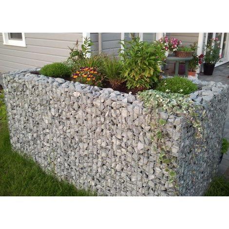 Raised garden , mesh size 5 cm, 130x100x60 cm, wall thickness 10 cm