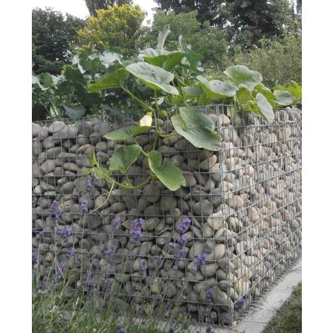 Raised garden , mesh size 5 cm, 130x50x80 cm, wall thickness 10 cm