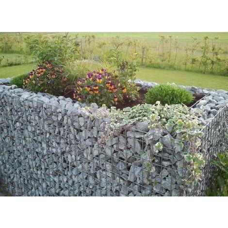 Raised garden , mesh size 5 cm, 130x80x80 cm, wall thickness 15 cm