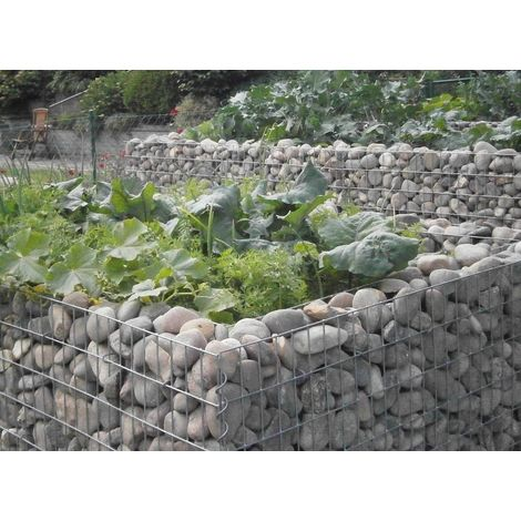 Raised garden , mesh size 5 cm, 200x100x100 cm, wall thickness 10 cm