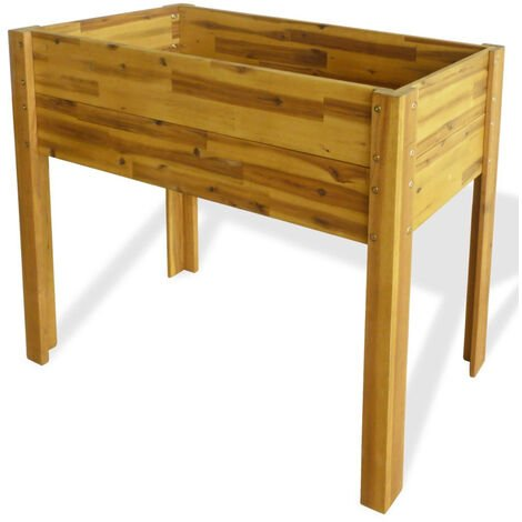 Raised Garden Planter Solid Acacia Wood