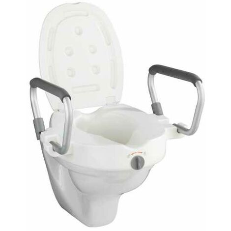 Raised toilet seat with armrest Secura WENKO