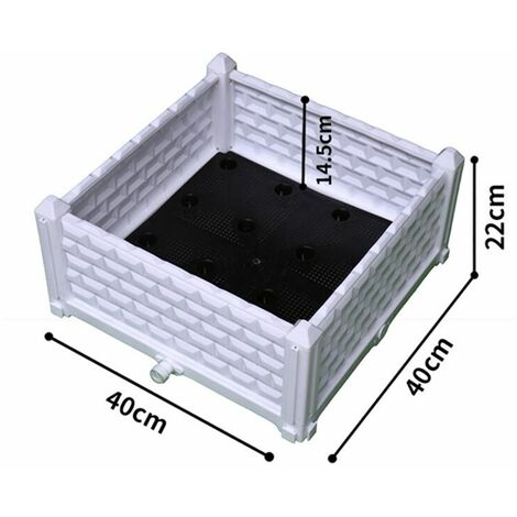 Raised vegetable garden flower vegetable planter portable pot outdoor seed growth WASHED - Blanc