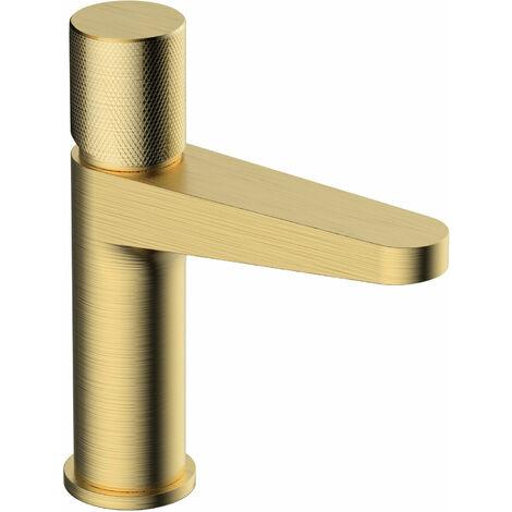 RAK Amalfi Basin Mixer Tap Without Waste - Brushed Gold