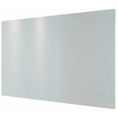 RAK Amethyst Landscape LED Mirror with Switch and Demister Pad 600mm H x 1000mm W Illuminated