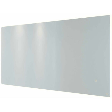 RAK Amethyst Landscape LED Mirror with Switch and Demister Pad 600mm H x 1200mm W Illuminated
