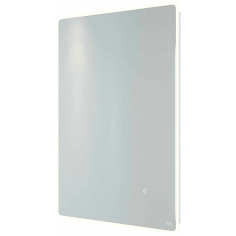 RAK Amethyst Portrait LED Mirror with Switch and Demister Pad 700mm H x 500mm W Illuminated